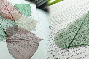 Cách làm bookmark bằng lá cây, phiến lá mong manh trong suốt đẹp lung linh