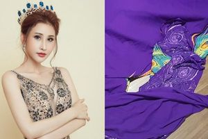 Trang phục dân tộc của Chi Nguyễn bị cắt nát trước thềm chung kết 'Hoa hậu Châu Á Thế giới 2018'