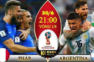 Xem trực tiếp bóng đá World Cup 2018 trận Pháp vs Argentina trên VTV6, HTV9