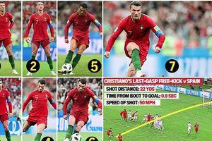 Bí mật những cú sút phạt thần sầu của Cristiano Ronaldo trước trận Bồ Đào Nha - Uruquay