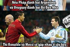 Biếm họa 24h: Messi và Ronaldo gặp nhau ở tứ kết hay 'sân bay'?