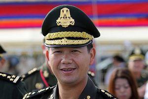 Con trai Thủ tướng Hun Sen được thăng chức trong quân đội