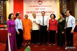 Khai mạc Hội nghị Đoàn Chủ tịch Ủy ban Trung ương MTTQ Việt Nam lần thứ 14 (khóa VIII)