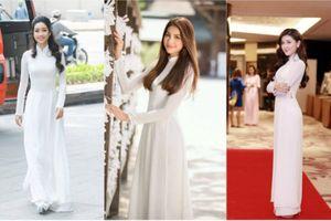 Dân mạng tranh cãi mỹ nhân Việt nào xinh nhất trong áo dài trắng