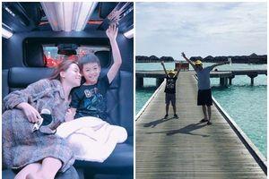 Vừa đi Maldives cùng bố, Subeo lại được mẹ Hồ Ngọc Hà đưa đến Mỹ du lịch
