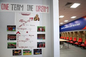 Sức mạnh tập thể của đội tuyển Bỉ thể hiện qua tấm áp phích
