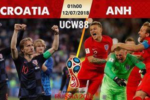 Danh sách, đội hình ra sân của tuyển Croatia trận bán kết Croatia vs Anh ngày 12/7