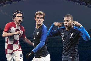 Đội hình kết hợp Pháp - Croatia: 'Gà trống' chiếm ưu thế