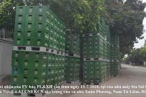 Quá thời hạn di dời, nhà máy bia Sài Gòn – Hà Nội vẫn tập kết hàng trăm két bia chiếm vỉa hè
