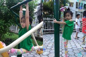 Ốc Thanh Vân khoe con gái 5 tuổi tập yoga điêu luyện, nhìn động tác xoạc chân mà giật thót tim