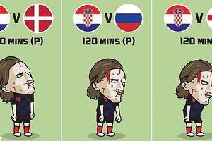 Biếm họa 24h: Croatia 'lê lết' vào chung kết World Cup 2018