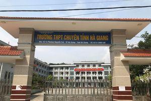 Phó chủ tịch UBND tỉnh Hà Giang thừa nhận điểm thi bất thường