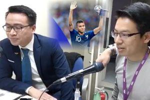 Ức chế vì BLV Tạ Biên Cương, Tiến Dũng 'chém gió thành bão' ở chung kết World Cup 2018