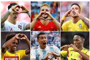 World Cup 2018: Kiểu ăn mừng 'trái tim tình yêu' lên ngôi