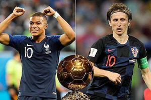 Tỷ lệ bóng vàng 2018: Modric và Mbappe thách thức Ronaldo