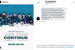 Chuyện như đùa: Làm lộ teaser iKON trên Instagram, YG 'tỉnh bơ' nhắn tin yêu cầu fan gỡ ảnh