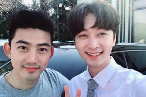 Được nghỉ phép, Taecyeon (2PM) đến phim trường 'Thư ký Kim' thăm Chansung
