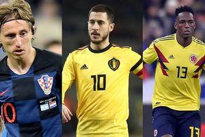 Bảng xếp hạng 20 cầu thủ xuất sắc nhất World Cup 2018