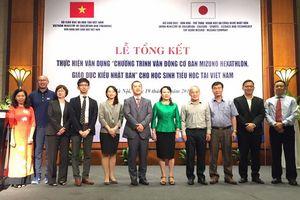 Chương trình vận động cơ bản Mizuno Hexathlon hữu ích nâng cao thể chất HS Việt Nam