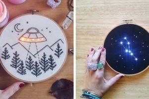 'Phát chán' kiểu thêu truyền thống, nghệ nhân kết hợp thêu thùa với đèn LED tạo nên những tác phẩm ấn tượng