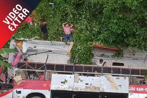 Xe khách chở 35 người lao xuống vực tại Cao Bằng