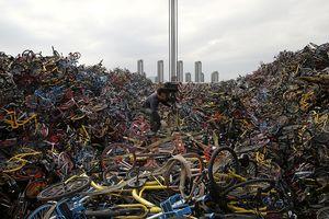 Choáng với hình ảnh 'núi xe đạp rác' ở Trung Quốc