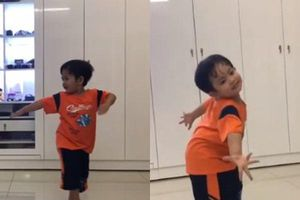 Clip con trai 3 tuổi nhà Khánh Thi – Phan Hiển nhảy dancesport cực điêu luyện gây 'sốt'