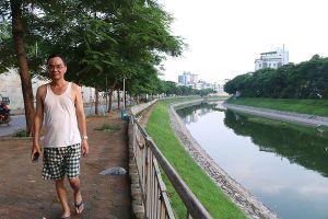 Sông Tô Lịch 'hồi sinh' sau những ngày Hà Nội mưa lớn