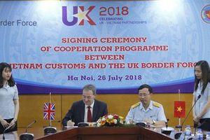 Hải quan Việt Nam ký Ý định thư với Cơ quan Bảo vệ biên giới Vương quốc Anh