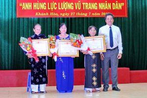 Phong tặng, truy tặng 35 danh hiệu Bà mẹ VNAH và 4 Anh hùng LLVT ở Khánh Hòa