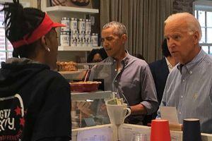 Cựu Tổng thống Mỹ Barack Obama làm 'náo loạn' cửa hàng bánh