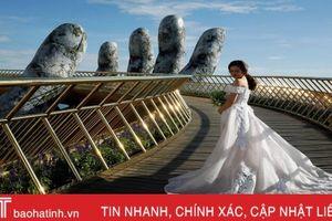 Hãng tin Anh giới thiệu về cây Cầu Vàng ở Đà Nẵng