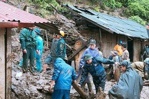 BĐBP tỉnh Lai Châu triển khai lực lượng đối phó với mưa lũ, giúp dân khắc phục hậu quả