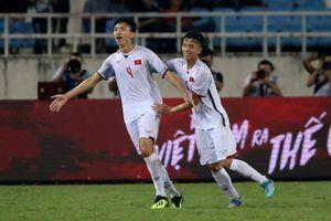 Olympic Việt Nam 1-0 Olympic Oman: Đoàn Văn Hậu ghi bàn thắng của nhà vô địch!