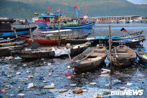 Rác thải nổi lềnh bềnh, bốc mùi hôi thối nồng nặc ở âu thuyền lớn nhất miền Trung