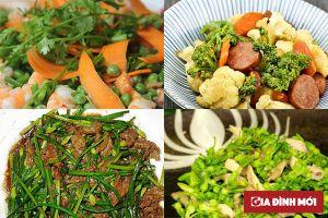 Thực đơn món ăn hàng ngày cho bữa cơm gia đình đầy đủ dinh dưỡng