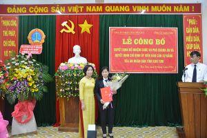 Trao quyết định bổ nhiệm Phó Chánh án TAND tỉnh Kon Tum