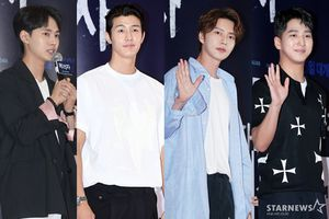 Park Hae Jin, Lee Ki Woo, Baro (B1A4) cùng tiểu Lee Min Ho đẹp tựa 'soái ca' tại buổi công chiếu phim 'The Witness'