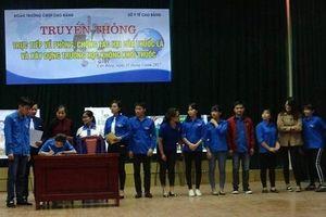 Đoàn TNCS tỉnh Cao Bằng: Tích cực 'nói không với thuốc lá'