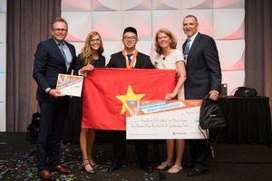Huy chương Đồng tin học văn phòng thế giới đầu tiên của học sinh phổ thông Hà Nội