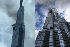 Khói đen bốc lên từ tầng cao tòa nhà Landmark 81