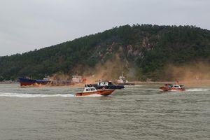 Cảng vụ Hàng hải Nghệ An tổ chức diễn tập phối hợp TKCN hàng hải