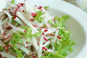 Cách làm món salad củ cải đúng vị Hàn Quốc