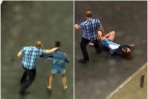 Phẫn nộ clip người đàn ông hung hãn đánh bạn gái dã man sau khi dỗ dành bất thành