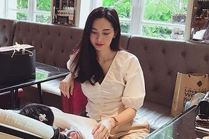 Ảnh mới nhất của con gái Hoa hậu Đặng Thu Thảo