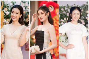 Hoa hậu Mỹ Linh đọ sắc với Ngọc Hân, Huyền My trong sự kiện