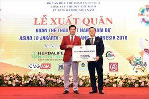 Herbalife tài trợ dinh dưỡng cho 353 vận động viên Việt Nam tham dự Asiad 2018