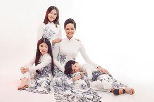 Diện áo dài họa tiết đồng quê, Hoa hậu H'Hen Niê khoe đường cong quyến rũ đến lạ thường