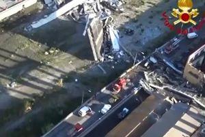 Video cảnh sập cầu như 'tận thế' khiến 39 người chết ở Ý