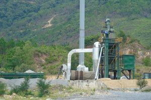 Quảng Bình:Trạm trộn bê tông chưa có giấy phép đã ngang nhiên hoạt động